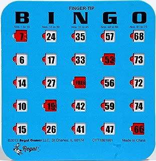 Regal Games Blue Fingertip Shutter Slide Bingo Cards