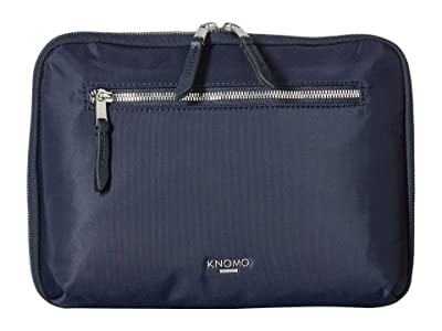 KNOMO London Mayfair Knomad 10.5 Tech Organizer (Dark Navy) Travel Pouch