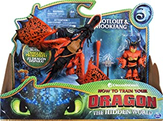 DreamWorks Dragons, Hookfang and Snotlout, Dragon with Armored Viking Figure, for Kids Aged 4 and Up