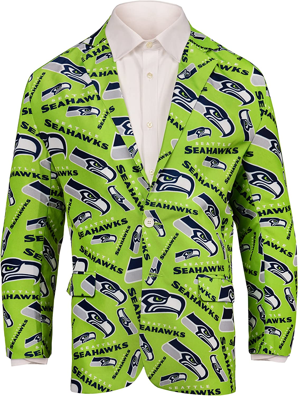 FOCO NFL mens Repeat Max 65% Ranking TOP10 OFF Suit Jacket Logo Business