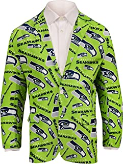 Forever Collectibles NFL Mens Repeat Logo Ugly Business Jacket