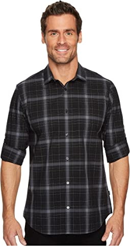 Calvin Klein - Blown-Up Plaid Roll-Up Button Down Shirt