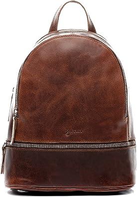 BACCINI® Zaino vera pelle DINA grande borsa a spalla borsa a zainetto backpack donna