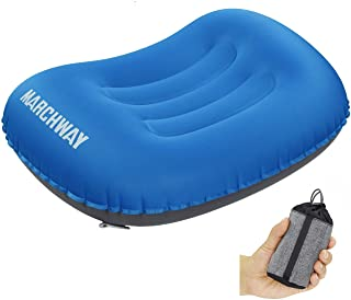 MARCHWAY Ultralight Compact Inflatable Camping Pillow, Soft Compressible Portable Travel Air Pillow for Outdoor Camp, Spor...