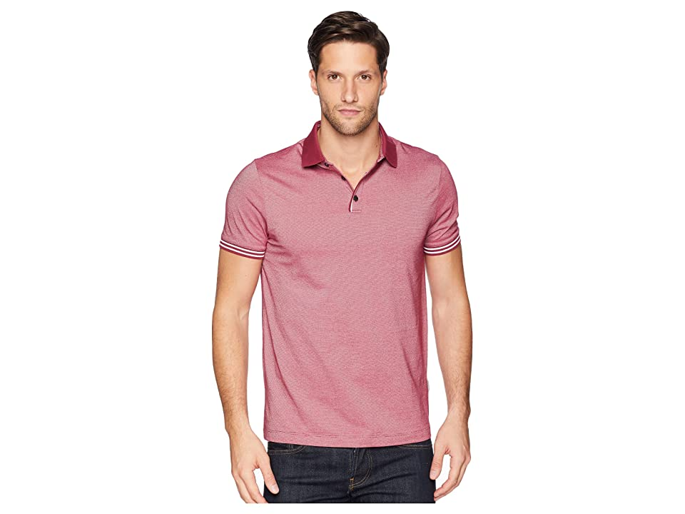 Perry Ellis Essential End On End Polo (Rhododendron) Men