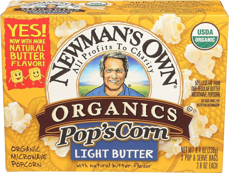 Newman's Own Organic Pop's Corn Cheap bargain New color Microwave Light Popcorn Butter
