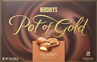 HERSHEY'S Pot of Gold Chocolate Candy Gift, Milk Chocolate Collection, 10 Ounce