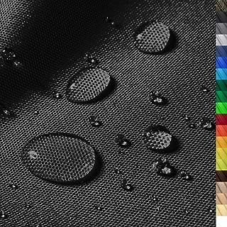 1buy3 Monaco Wasserdichter Polyester Stoff | 12.000 mm Wassersäule | Farbe 19 | Schwarz | Polyester Stoff 160cm breit Meterware wasserdicht Outdoor extrem reissfest