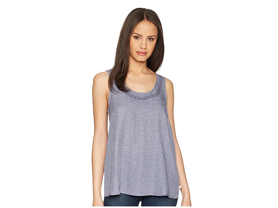 Toad&Co Windsong Sleeveless Tank Top (Blueberry Diamond Print) Women