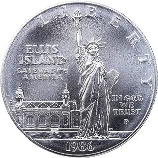 1986 P Statute of Liberty Ellis Island Silver Commemorative Dollar $1 Brilliant Uncirculated US Mint