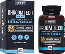 Onnit Shroom TECH Sport (84ct)   All Natural Pre-Workout Supplement with Ashwagandha, Cordyceps Mushroom, and Rhodiola Rosea