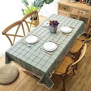 Vintage carreaux rouge coeurs PVC Nappe Vinyle Toile Cirée Cuisine Table de salle à manger