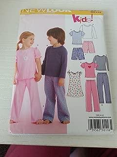 New Look Sewing Pattern 6641 Child Sleepwear, Size A (3-4-5-6-7-8)