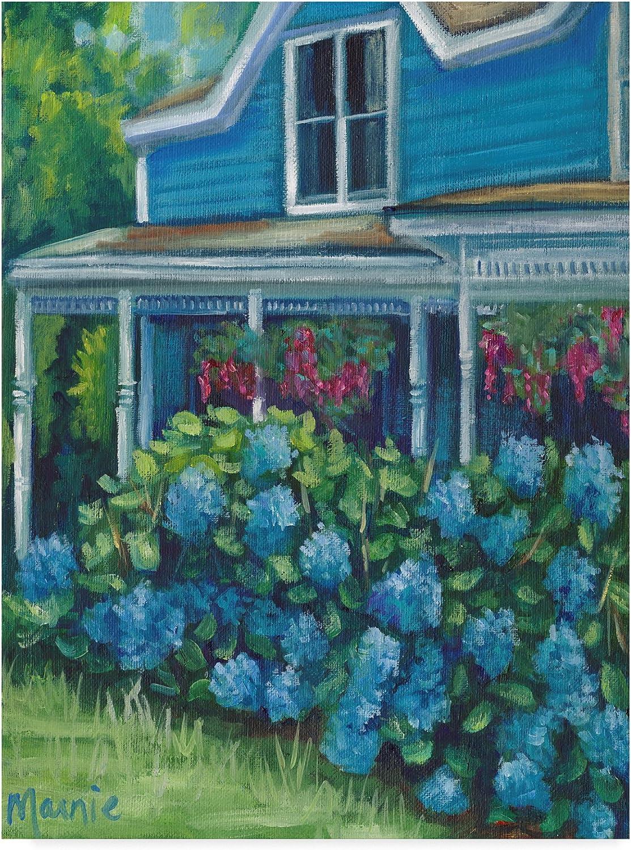Trademark Fine Art Hydrangea Riot by Marnie Bourque, 14x19 Multicolor, Wall Art
