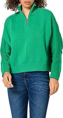 Tommy Hilfiger Zip-up High-NK SWT Ls Sweater Femme