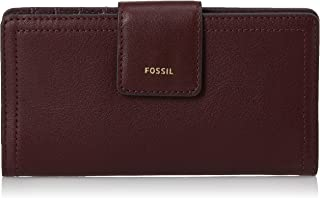 Fossil Women's Logan Leather Tab Wallet, Fig