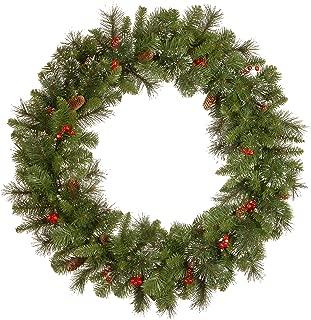 National Tree CW7-10-36W-1 Crestwood Spruce Wreath, 36 Inch