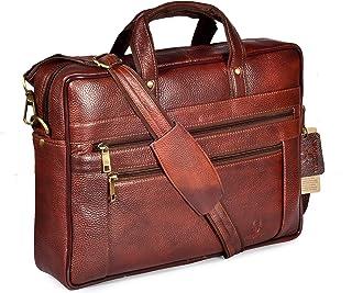 WildHorn Leather Laptop Messenger Bag for Mens