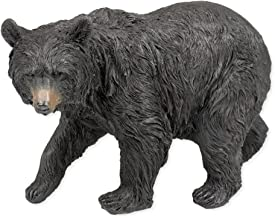 Slifka Sales Co. Black Bear Walking 9.5 x 5 x 6.5 Inch Resin Crafted Tabletop Figurine