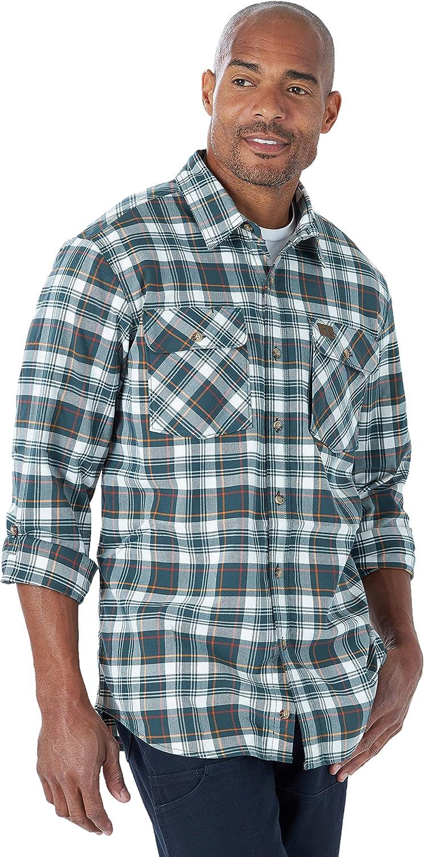 Wrangler Riggs Workwear Men's Lightweight Flannel Work Shirt