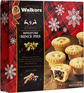 Walkers Shortbread, Mini Mince Pies, 7.9-Ounce Boxes (Pack of 3)
