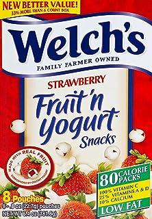 Welchs Strawberry Fruit & Yogurt Snack, 8/.8 oz (Pack of 10)