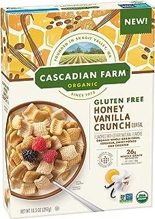 Cascadian Farm Gluten Free Crunch Cereal, Honey Vanilla, 12 Count
