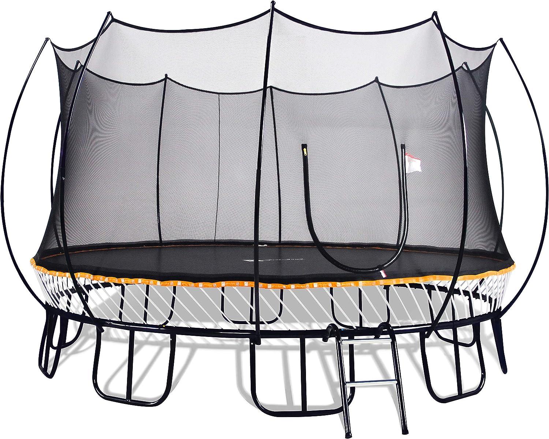 Free Jump Trampoline 15FT Round with Springless 実物 Safet 驚きの価格が実現