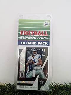 Dak Prescott- (10) Card Pack NFL Football Superstar Dak Prescott Starter Kit all Different cards. Comes in Custom Souvenir Case! Perfect for the Prescott Super Fan! by 3bros