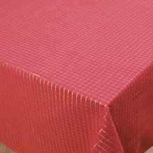 Now Designs Tinsel Check Red Chili Tablecloth, 54 by 72-Inch