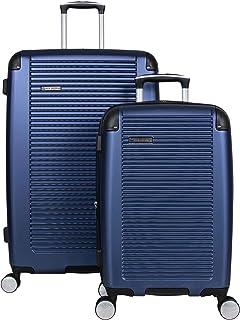 Ben Sherman Norwich Luggage Collection Lightweight Hardside Pet Expandable 8-Wheel Spinner Travel Suitcase Bag, Indigo, 2-...