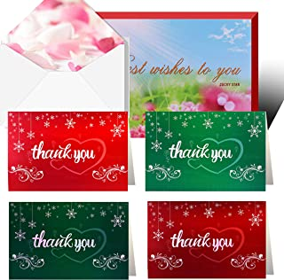 Thank You for Your Greeting Card, 300 Elegant Cards, Suitable for Baby Full Moon Party   Wedding   Bride Shower   Business, 48 Blank Cards with envelopes
