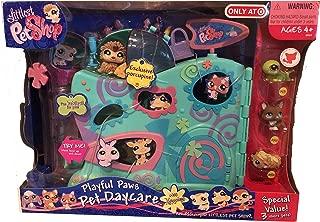 Littlest Pet Shop Exclusive Playful Paws Pet Daycare with Porcupine + 3 Pets (Gecko, Corgi, Guinea Pig)