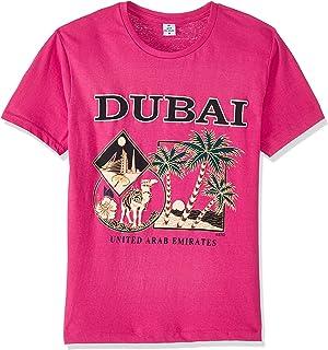 Dubshi D119 Men's Dubai T-shirt, Fushia