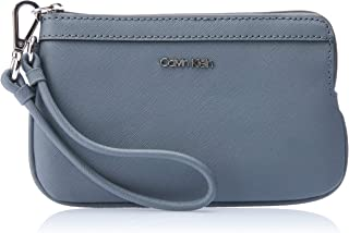 Calvin Klein Women's Wristlet With Strap Wallets, Asphalt, One Size