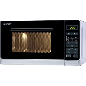 Sharp R-242INW Micro-ondes Solo 20 litres - Argent