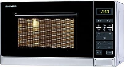 Sharp R-242 INW Microondas 20L, Control Táctil, 800W, 800 W, 20 litros, Acier