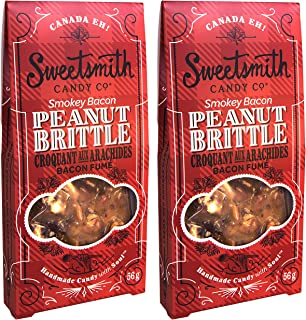 Sweetsmith Candy Co. Smokey Bacon Peanut Brittle – Handmade, Gluten-Free, Egg-Free, Soy-Free, and Dairy-Free (Smokey Bacon, 2 Pack)