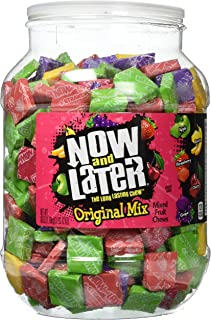 Now & Later Original Mixed Fruit Chews Assorted 60 Ounce Jar
