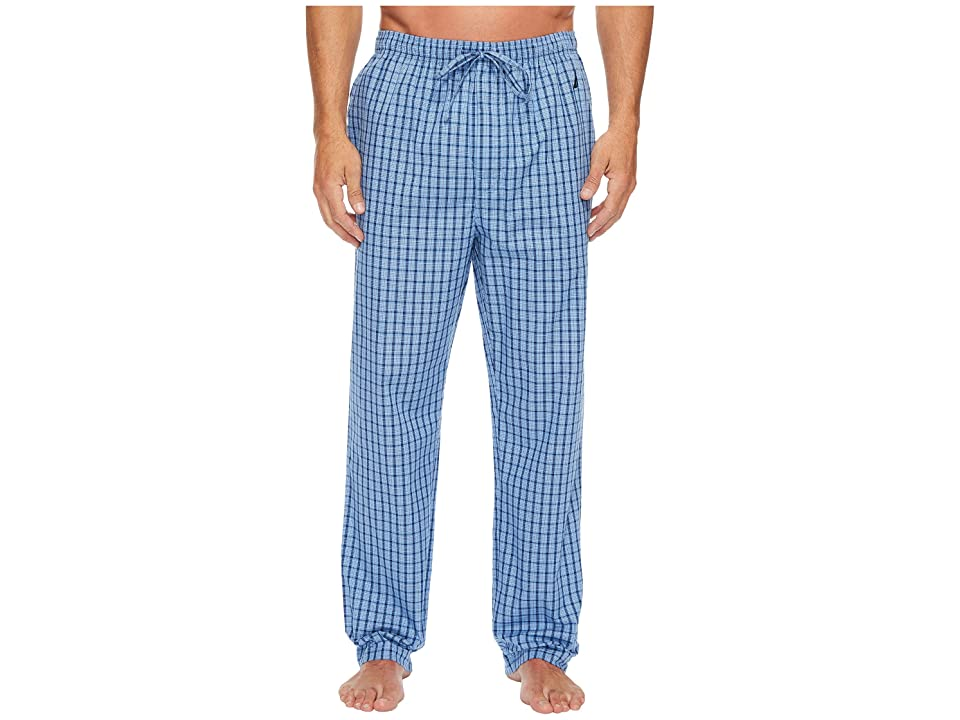 Nautica Plaid Sleep Pants (Light French Blue) Men