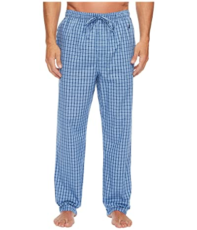 Nautica Plaid Sleep Pants (Light French Blue) Men