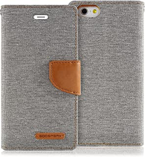 Goospery Canvas Wallet for Apple iPhone 6S Case (2015) iPhone 6 Case (2014) Denim Stand Flip Cover (Gray) IP6-CAN-GRY