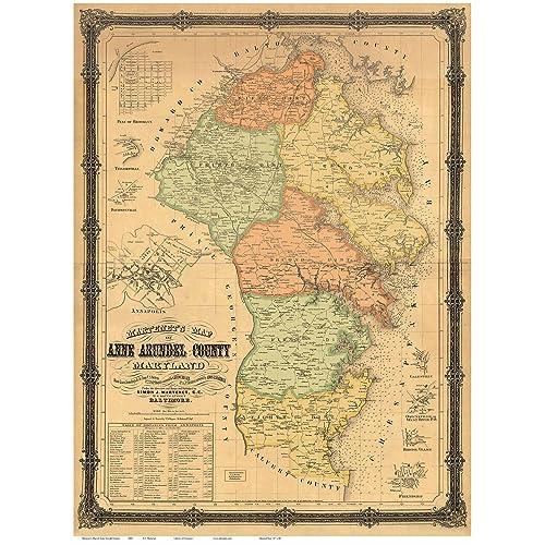 Map of Maryland Counties: Amazon.com