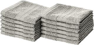 دستشویی های نخی مقاوم در برابر محو AmazonBasics - بسته 12 ، خاکستری