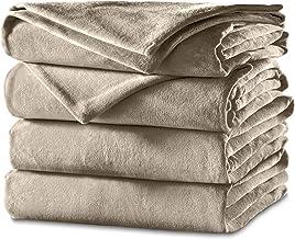 Sunbeam Heated Blanket | Velvet Plush, 10 Heat Settings, Mushroom, Full - BSV9GFS-R772-12A44