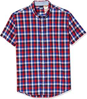 Tommy Hilfiger Men's Adaptive Magnetic Short Sleeve Button Shirt Slim Fit