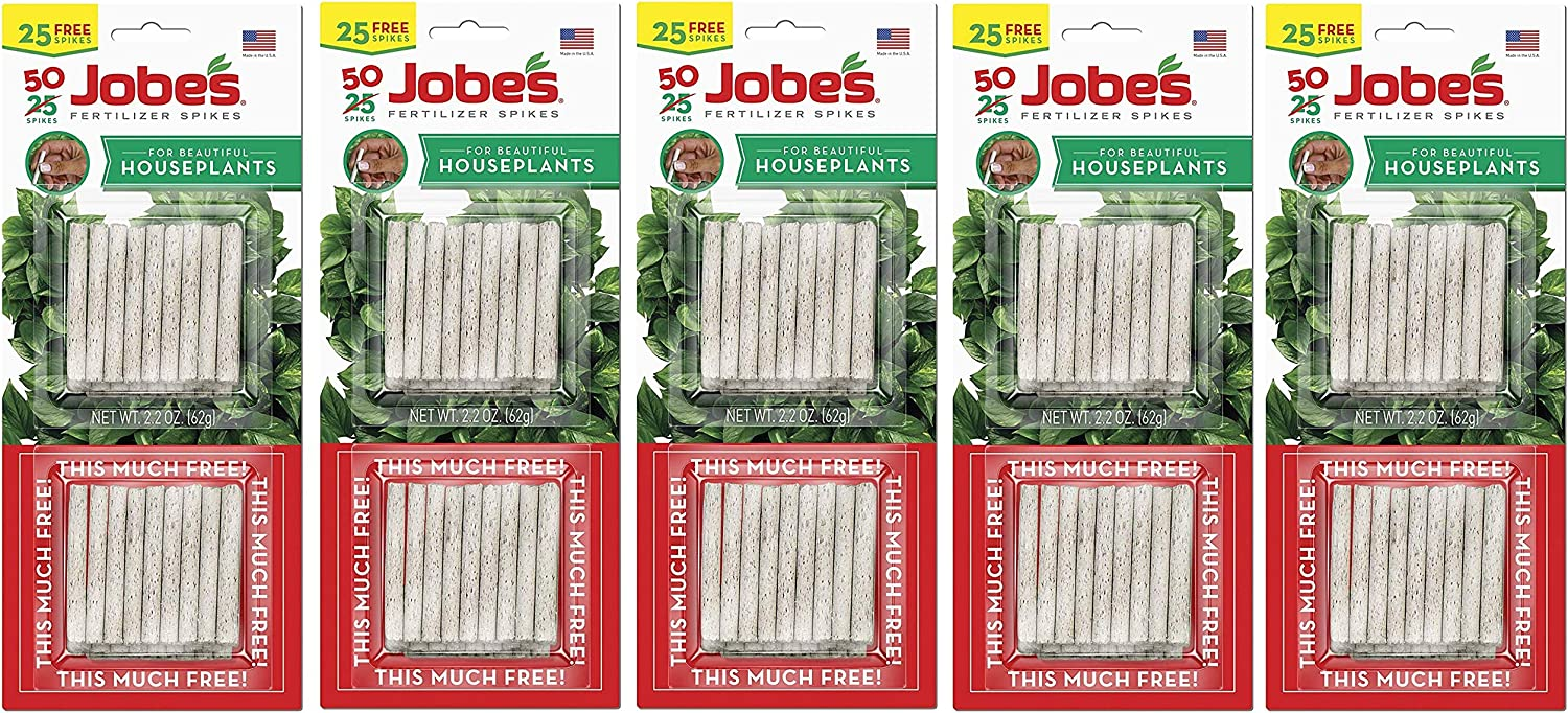 Super sale period limited Jobes 5001T Houseplant Plant Food Pack 13-4-5 70% OFF Outlet Spikes Multicol 50