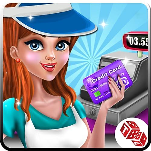 Einkaufszentrum Kassierer Mädchen Registrierkasse Spiele