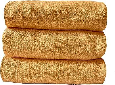 60×120cm 730匁【3枚組】 バスタオル シャーリング加工 100%綿
