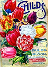 A SLICE IN TIME 1898 Childs Tulips Vintage Flowers Seed Packet Catalogue Advertisement Poster